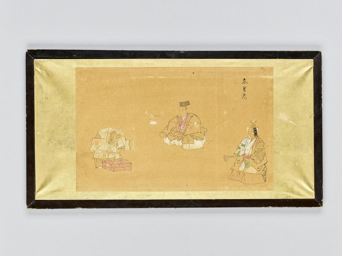 A SMALL PAINTING OF TAOIST FIGURES, 19TH CENTURY