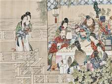 A SCHOLARS PAINTING LATER QING