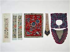 A LOT OF SEVEN TEXTILES QING DYNASTY