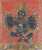 A THANGKA OF CHATURMUKHA MAHAKALA, 17TH CENTURY