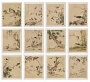 ALBUM WITH 12 BIRD STUDIES BY CHEN YUANZHANG, QING