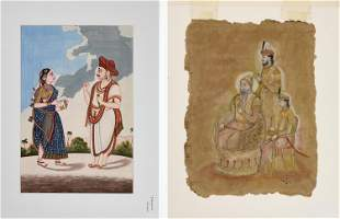 TWO INDIAN MINIATURE PAINTINGS