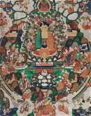 A THANGKA OF BUDDHA AMITABHA