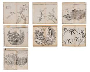 SEVEN CHINESE COLOR WOODBLOCK PRINTS, 18th CENTURY
