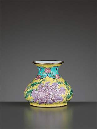 A 'PEONIES' WATER POT, QIANLONG MARK AND PERIOD