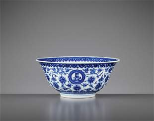 A 'FLORAL' BOWL, DAOGUANG BING WU MARK AND PERIOD