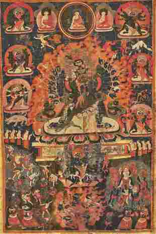 A THANGKA OF WALSE NGAMPA, 15TH-17TH CENTURY