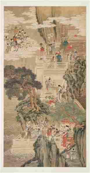 THE ARRIVAL OF XIWANGMU' BY YU ZHIDAN, QING DYNASTY