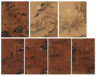 AN ALBUM WITH NINE FIGURAL SCENES, QING DYNASTY
