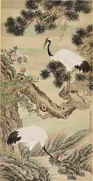 CRANES', SCHOOL OF SHEN QUAN (1682-1760)