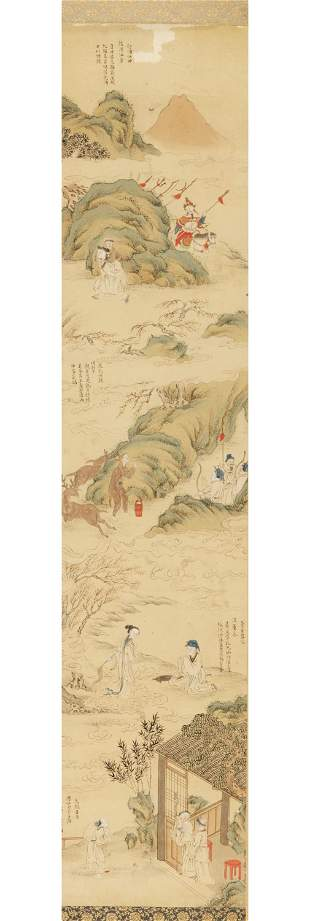 FOUR SCENES FROM THE ERSHISI XIAO', QING DYNASTY