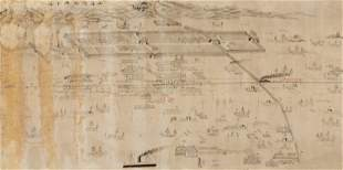 A LARGE MAP OF THE SHANHAI PASS, LATE QING