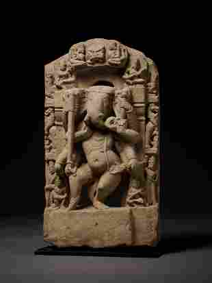 AN IMPORTANT SANDSTONE FIGURE OF GANESHA