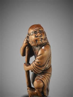 MINKOKU I: A WOOD NETSUKE OF TEKKAI SENNIN