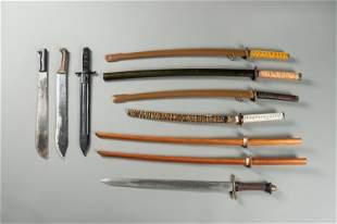 A GROUP OF TEN SWORDS