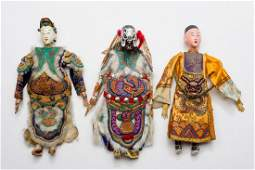 GROUP OF THREE CHINESE THEATER PUPPETS