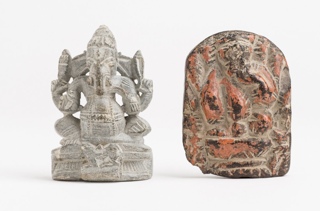 TWO STATUETTES OF GANESHA