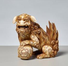 Toshinobu: Lion Dog Shishi With Ball