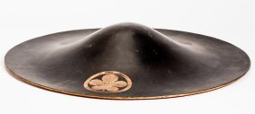 Wide-brimmed Hat With Lacquer Ornament