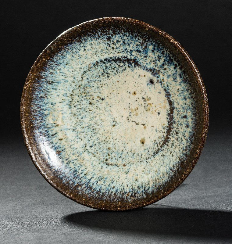 BOWL WITH FLAME GLAZE