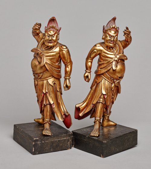 TWO TEMPLE GUARDIANS
