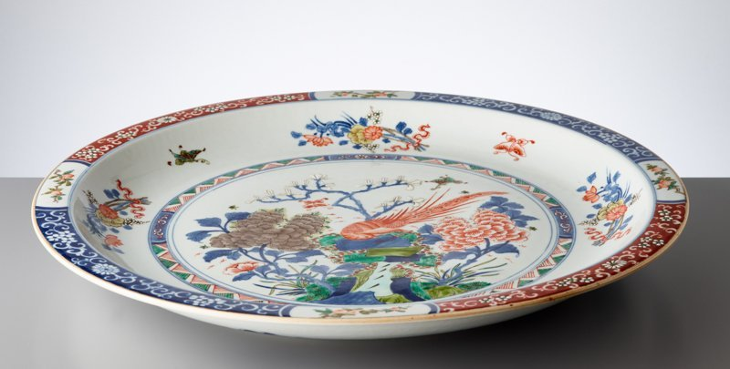 LARGE PLATE WITH EXOTIC BIRD - 2