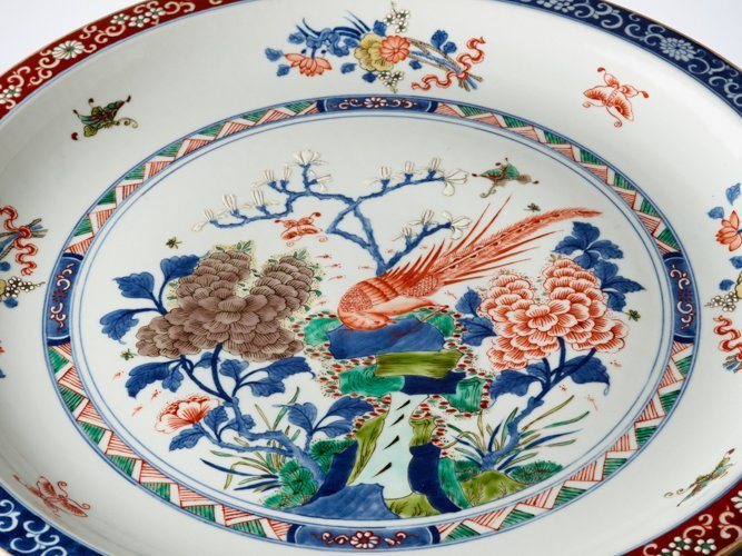LARGE PLATE WITH EXOTIC BIRD - 4