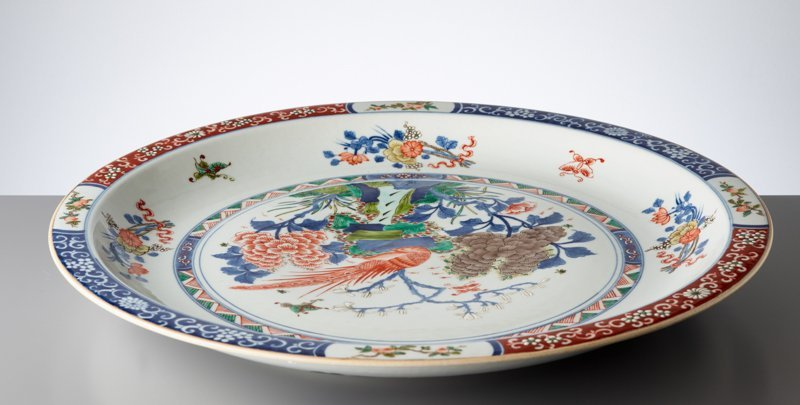 LARGE PLATE WITH EXOTIC BIRD - 7