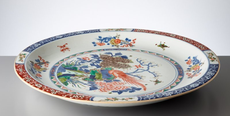 LARGE PLATE WITH EXOTIC BIRD - 8