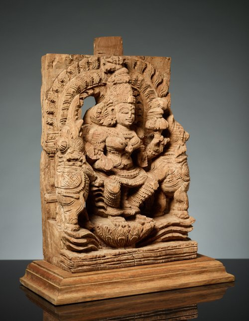 GODDESS LAKSHMI BETWEEN ELEPHANTS