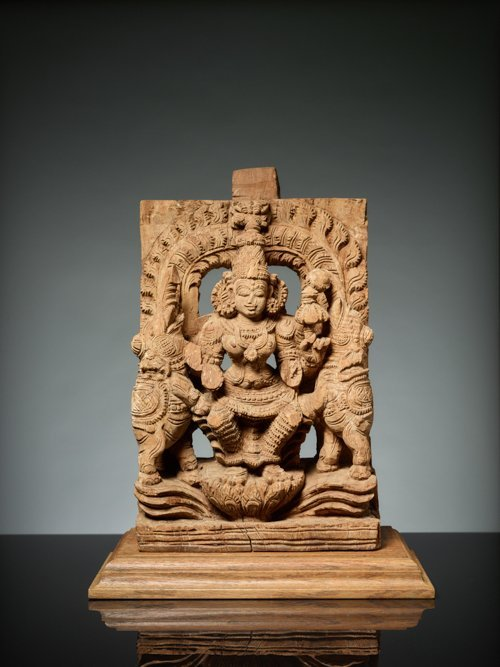 GODDESS LAKSHMI BETWEEN ELEPHANTS - 2