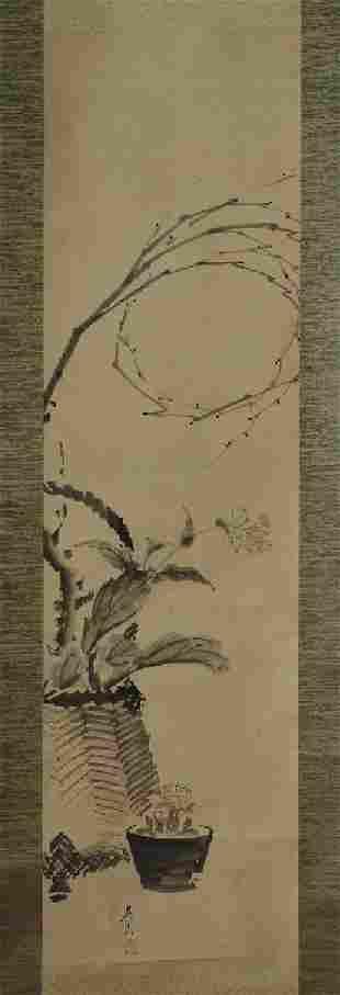SHIBATA ZESHIN (1807–1891): FLOWER BASKET AND CACTUS