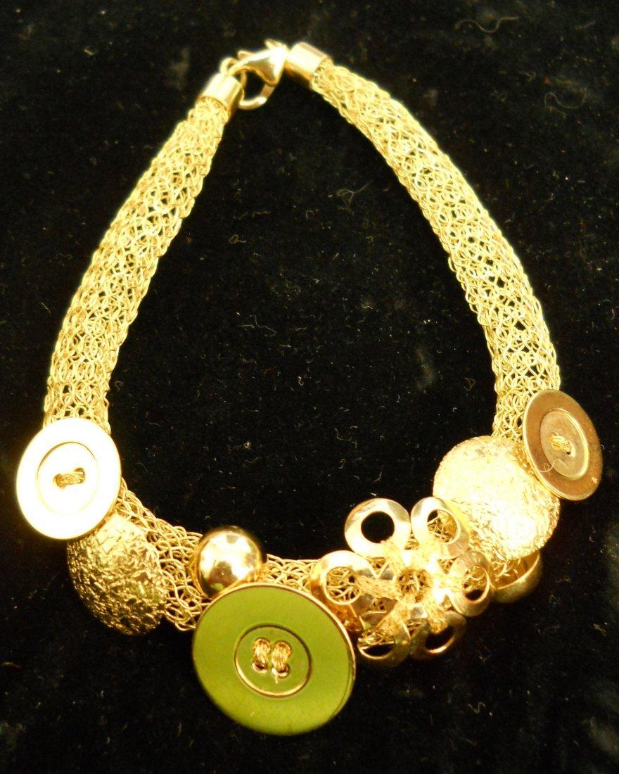 18K Gold Ladies Mesh Bracelet