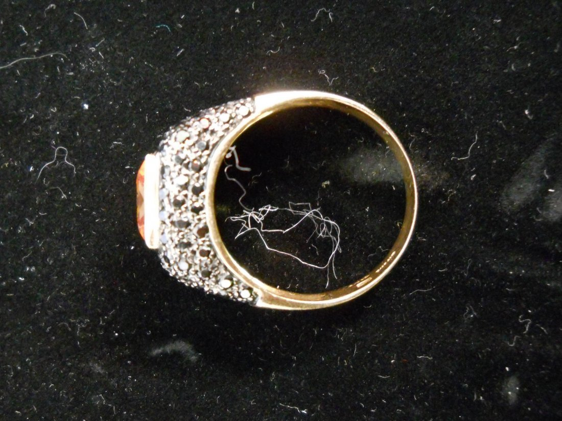 14k Gold Ring with Yellow Stone