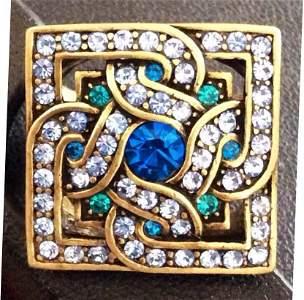 Multicolor Cz Custom Ring - Size 9