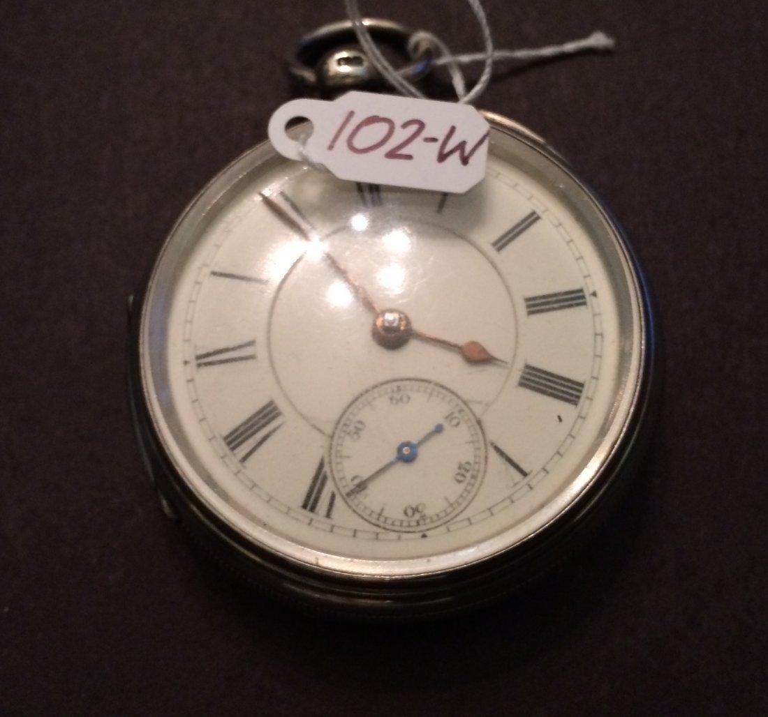 1896 Pocket Watch England Sterling Silver Hallmarks