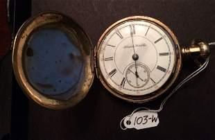Hampden Watch Co Pocket Watch Hunter Case