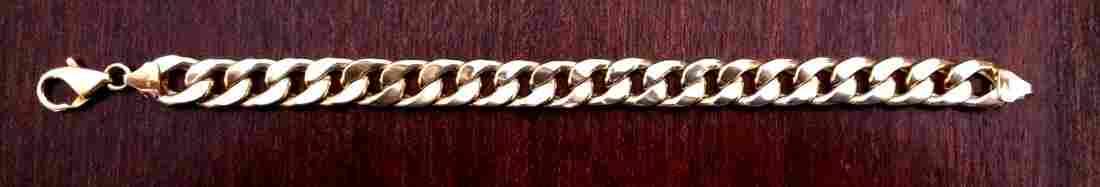 """8"""" Men Cuban Link 14K Gold Bracelet 10mm"""