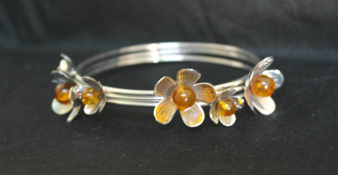.925 Sterling Silver 3pc Bangle Bracelet