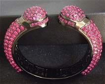 Joan Boyce Kissable Pavé Crystal Pink Cuff Bracelet