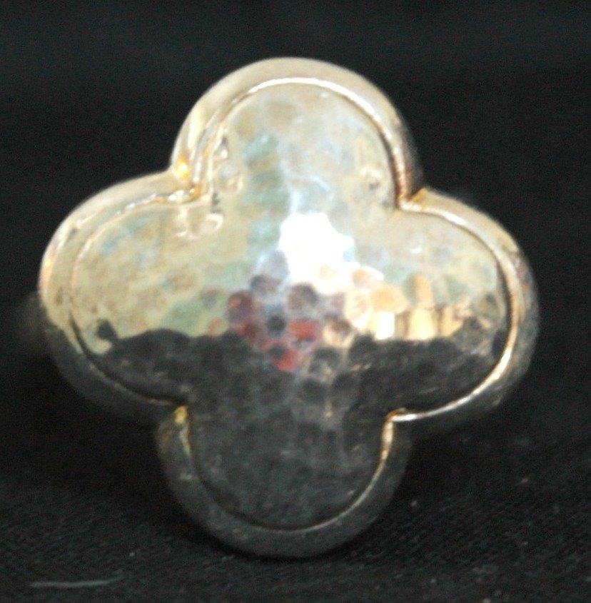.925 Sterling Silver 4 Leaf Clover Ring