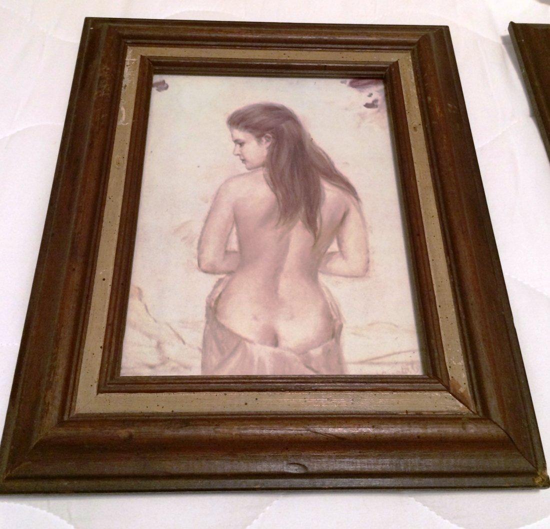 "Joseph Wallace King Vinciata Naked Lady 6"" x 8"" Print"