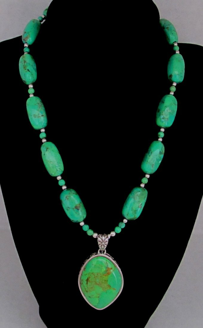 Green Turquoise Ladies Necklace