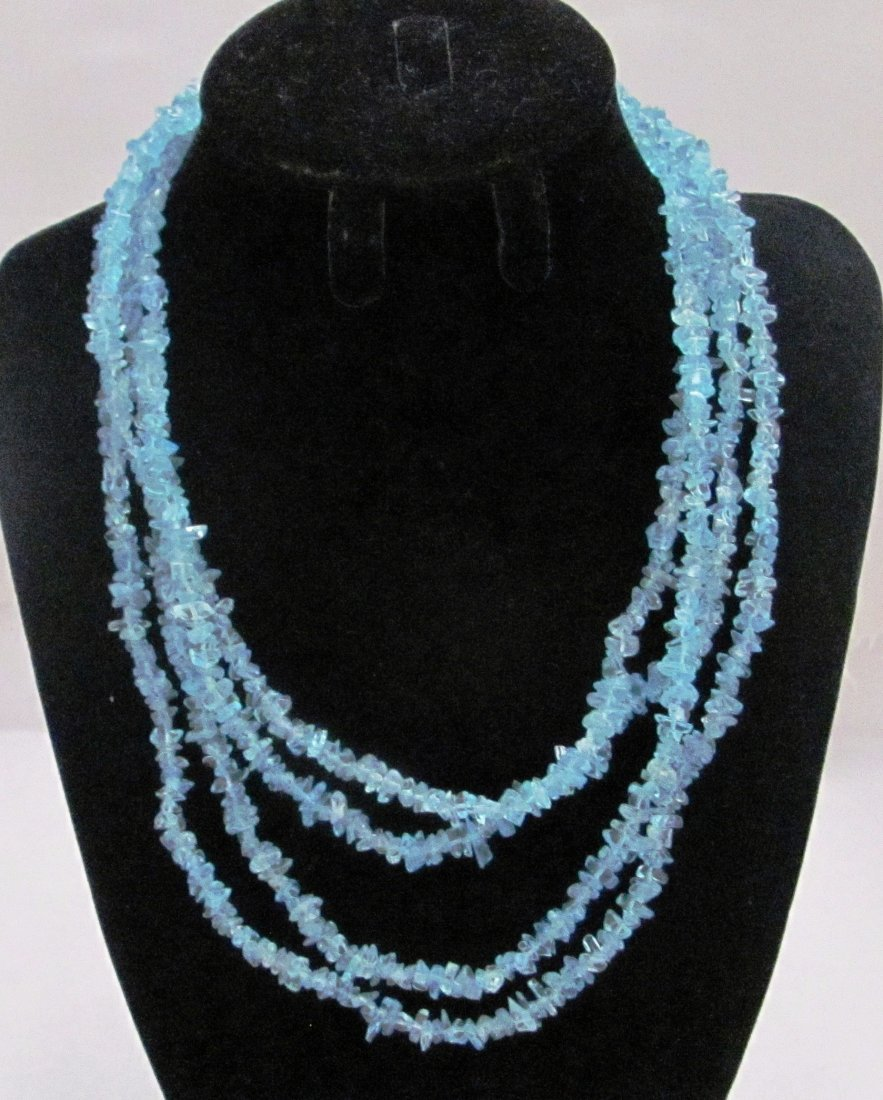 """72"""" Quartz Necklace with .925 Sterling Clasp"""