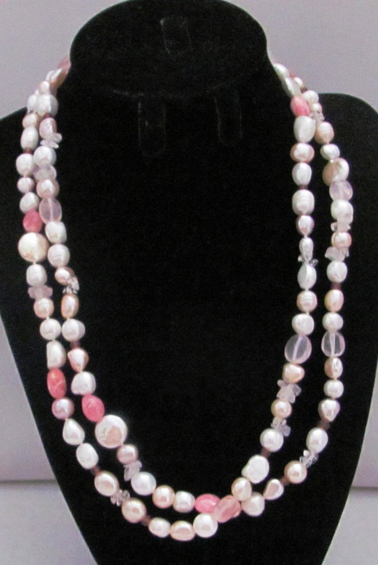 """Honora Collection 40"""" Pearl and Quartz .925 Sterling"""