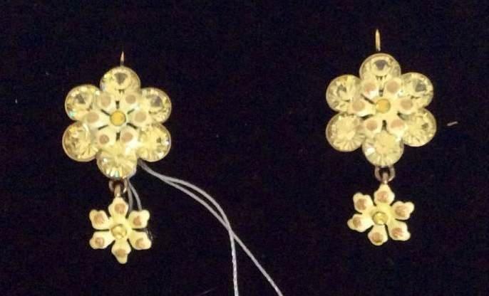 Joan Rivers Gold Tone Flower Custom Earrings