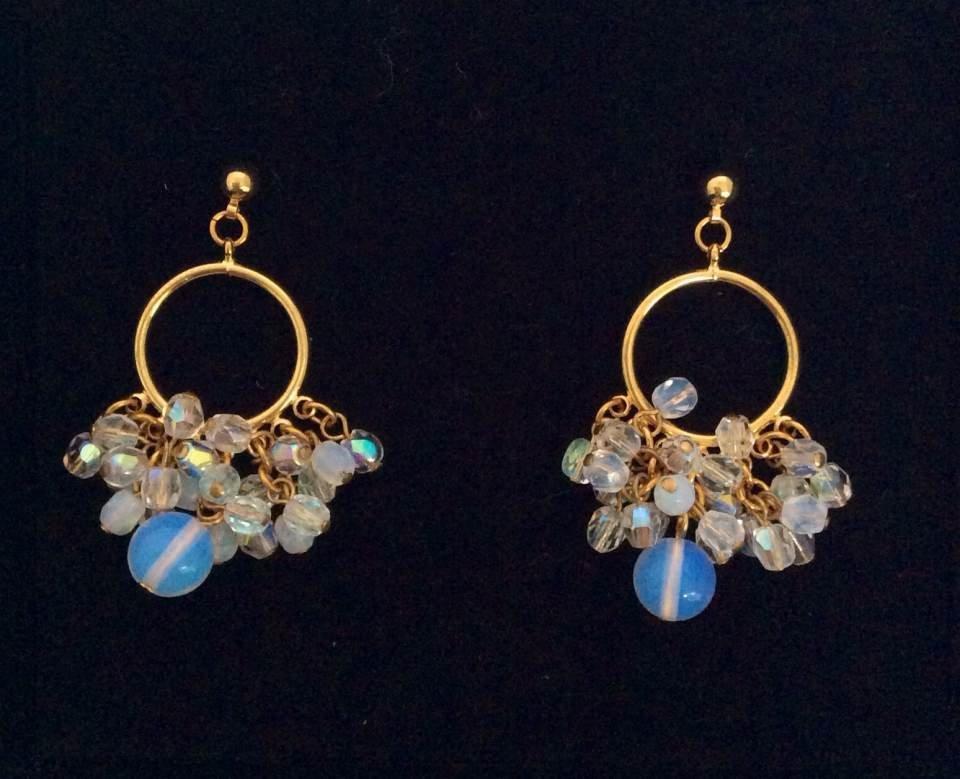 Joan Rivers Gold Tone White & Blue Beads Custom