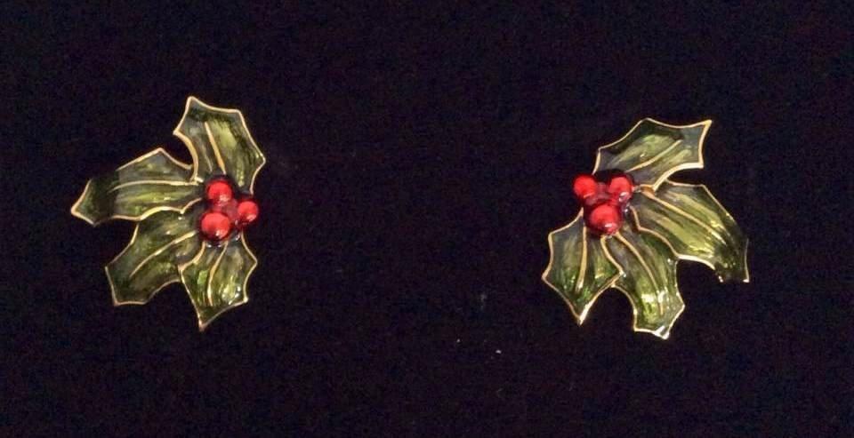 Joan Rivers Gold Tone Poinsettia Custom Earrings