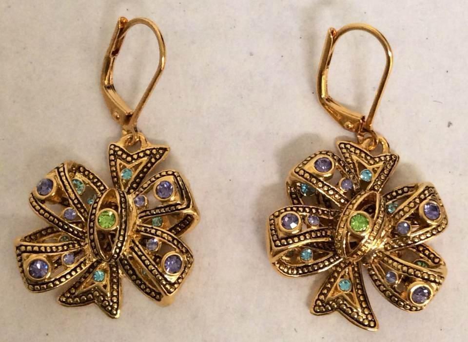 Joan Rivers Gold Tone Ribbon Custom Earrings