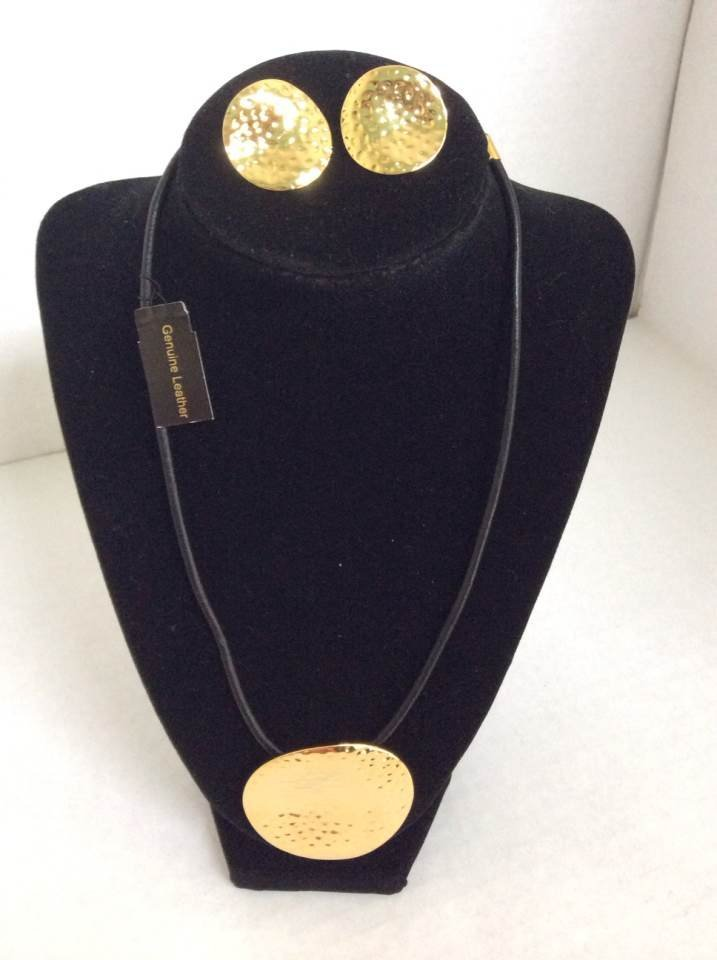 """Joan Rivers 21"""" Leather Necklace with Pendant and"""